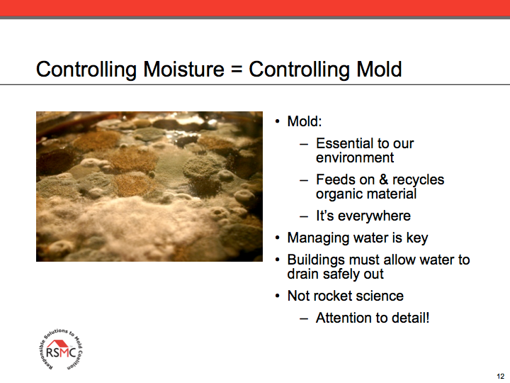 controlling moisture - controlling mold